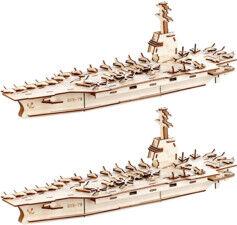 Playtastic 2 maquettes 3D en bois de porte-avions - 234 pièces