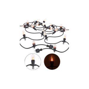 Lunartec 2 guirlandes lumineuses décoratives 4,2 m à 10 ampoules effet flammes