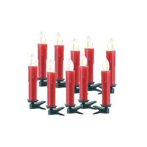Lunartec Pack de 10 bougies à LED sans fil suplémentaires - Rouge - Publicité