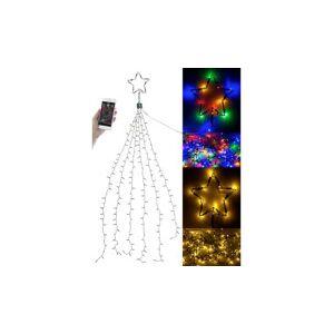 Lunartec Guirlande lumineuse effet cascade pour sapin de Noël, 240 LED, avec bluetooth & application - Publicité