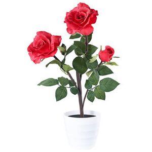 Lunartec Rosier LED 3 fleurs rouge 50cm