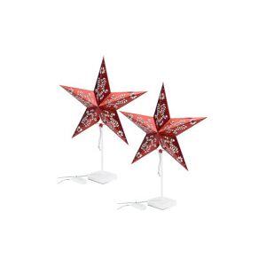 Lunartec 2 étoiles lumineuses à LED - modèle rouge