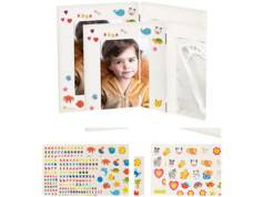 Your Design 2 cadres photo 3 en 1 spécial bébé avec photo et moulages - Petit