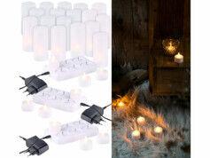Lunartec 18 bougies plates à LED flamme scintillante