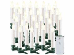Lunartec 30bougies à LED sans fil pour sapin de Noël d'extérieur avec télécommande