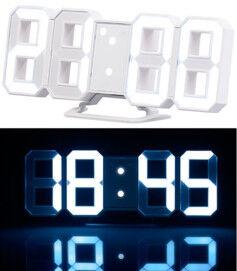 Lunartec Horloge à LED avec fonction réveil et luminosité variable, 21cm