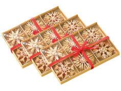 Infactory 72 Étoiles en paille pour sapin de Noël
