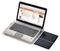 Logitech Support pour PC portable avec pavé tactile rétractable