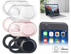 Somikon 6 caches pour webcam d'ordinateur portable autoadhésifs - Aluminium