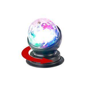 Lunartec Boule disco rotative 360° à effets lumineux LED RVB 3 W - Publicité