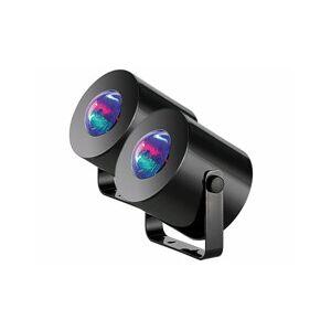 Lunartec 2 mini lumières disco mobiles à LED - Publicité