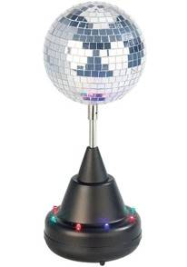 Lunartec Boule à facettes motorisée à LED multicolores - Version simple