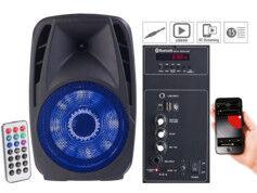 Auvisio Enceinte mobile PMA-900.k avec lecteur MP3 et fonctions bluetooth/karaoké
