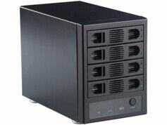 Xystec Boîtier USB 3.0 / ESATA pour 4 disques durs SATA
