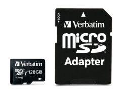 Verbatim Carte micro SDXC avec adaptateur SD Verbatim - 128 Go