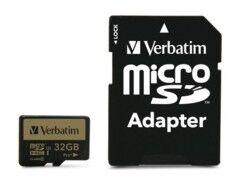 Verbatim Carte micro SDHC Verbatim Pro+ - 32 Go