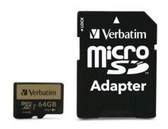 Verbatim Carte micro SDXC Verbatim Pro+ - 64 Go