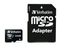 Verbatim Carte micro SDXC Verbatim - 64 Go
