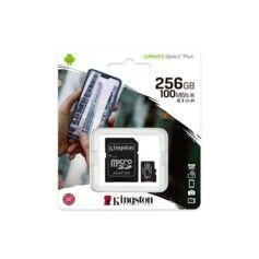 Carte Micro SDXC avec adaptateur Kingston Canvas Select 256 Go