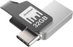 Strontium Clé USB Strontium Nitro Plus avec USB 3.1 + USB C OTG - 32 Go