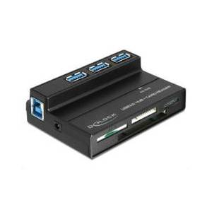 DeLock Lecteur de cartes 60 en 1 & Hub 3 ports USB 3.0 - Publicité
