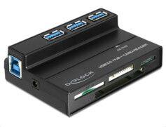 Delock Lecteur de cartes 60 en 1 & Hub 3 ports USB 3.0