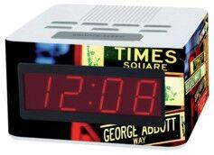 Teknofun Radio-Réveil FM à grands chiffres, motif New York