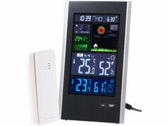 Infactory Station météo radiopilotée avec capteur extérieur et écran couleur - Portrait