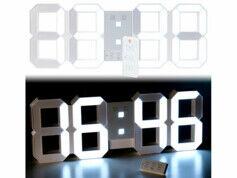 Lunartec Horloge LED digitale XXXL avec fonction réveil et télécommande