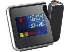 Infactory Réveil à projection avec thermomètre et hygromètre