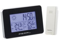 Pearl Station météo & horloge radio-pilotée avec capteur extérieur sans fil