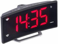 Auvisio Radio-réveil à projection avec affichage rouge et port de chargement USB