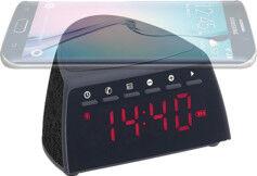 Auvisio Radio-réveil à fonctions bluetooth, chargeur Qi & mains libres