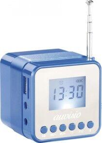 Auvisio Mini station MP3 avec radio, réveil et Bluetooth ''MPS-560.cube'' - Bleu