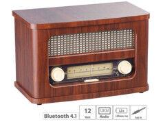 Auvisio Radio FM rétro nomade avec bluetooth MPS-570