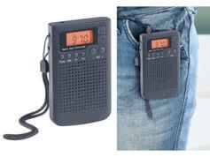 Auvisio Récepteur radio numérique de poche FM/AM avec fonction Radio-réveil