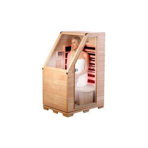 Newgen Medicals Sauna infrarouge compact en bois, 760 W - Publicité