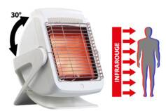 Newgen Medicals Lampe infrarouge avec plaque vitrocéramique, 200 W