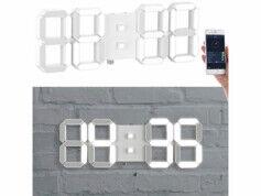 Lunartec Horloge LED connectée à intensité variable avec réveil