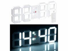 Lunartec Horloge LED digitale radio-pilotée à luminosité variable avec fonction réveil