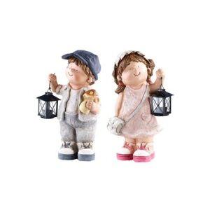 Royal Gardineer 2 figurines décoratives Petit Willy et Petite Anne avec lanterne - Publicité