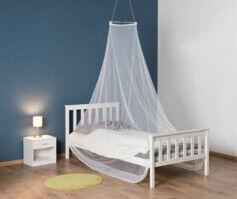 Infactory Moustiquaire en dôme pour lit simple, maille 156, blanche