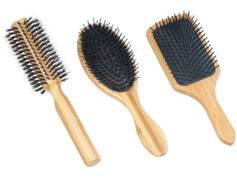 Sichler Beauty 3brosses à cheveux en bambou: ronde, plate et ovale