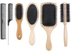 Sichler Beauty Ensemble complet de peignes & brosses à cheveux – 6 pièces