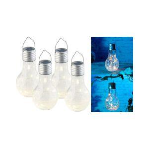 Lunartec Lot de 4 ampoules à LED décoratives aspect craquelé, avec chargement solaire - Publicité