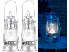 Lunartec 2 lampes tempêtes LED rechargeables avec variateur 200 lm/ 3W/ 8000K- Argent