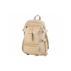 XCase Sac à dos en canevas beige avec compartiment PC portable - 11,5 L
