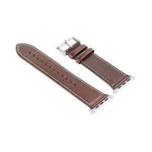 Callstel Bracelet en cuir pour Apple Watch - 38 mm - Brun - Publicité