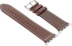 Callstel Bracelet en cuir pour Apple Watch - 42 mm - Brun