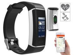 Newgen Medicals Bracelet fitness à écran couleur avec GPS et application pour 24 sports FBT-200.gps